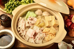 Pickled cabbage and meat hot pot   Stock Photography