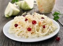 Pickled cabbage (sauerkraut) Stock Images