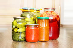 Pickled canned vegetables Royalty Free Stock Images