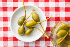 Pickled caper berries. Royalty Free Stock Image