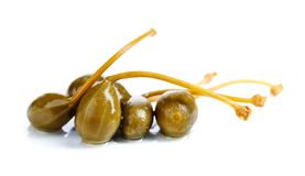 Pickled caper berries isolated on white background . Stock Photography