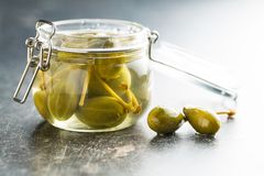 Pickled caper berries. Royalty Free Stock Images