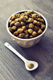 Pickled capers Stock Photo