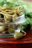 Pickled capers  in  bowl Royalty Free Stock Photography