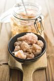 Pickled cauliflower in bowl. Stock Photos