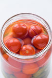 Pickled cherry tomatoes Stock Images