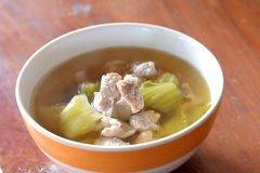 Pickled Chinese cabbage with pork Royalty Free Stock Images