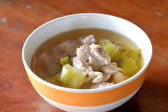 Pickled Chinese cabbage with pork Royalty Free Stock Photography