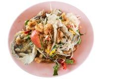 Pickled crab salad or Papaya salad & x28;Som tum& x29;. Thailand Stock Photography