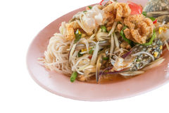 Pickled crab salad or Papaya salad & x28;Som tum& x29; Stock Photography