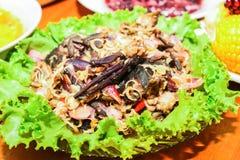Pickled crab salad sour, thai food Royalty Free Stock Image