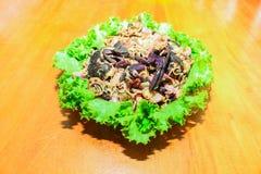Pickled crab salad sour, thai food Stock Images