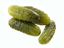 Pickled cucumber. S on the white background Royalty Free Stock Image