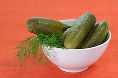 Pickled Cucumbers Royalty Free Stock Photo