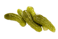 Pickled  cucumbers.  Gherkins. Stock Image