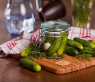 Pickled cucumbers Royalty Free Stock Image