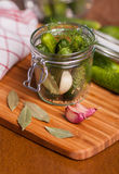 Pickled cucumbers Royalty Free Stock Images