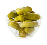 Pickled cucumbers in a plate Royalty Free Stock Photography