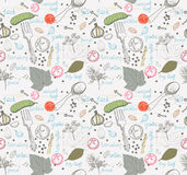 Pickled cucumbers, Seamless pattern Stock Image
