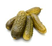 Pickled cucumbers. On white background Stock Images