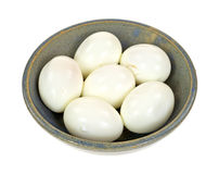 Pickled eggs in bowl Stock Photos