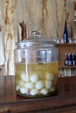 Pickled Eggs in a Glass Jar Stock Photography