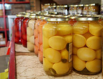 Pickled Eggs Royalty Free Stock Images