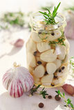 Pickled garlic Royalty Free Stock Photos