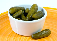 Pickled gherkins Royalty Free Stock Photos