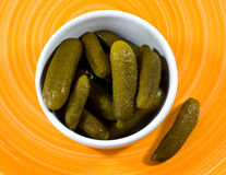 Pickled gherkins Royalty Free Stock Images