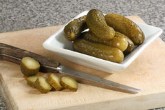 Pickled gherkins Stock Photo