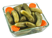 Pickled gherkins Royalty Free Stock Image