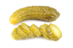 Pickled gherkins, white background Royalty Free Stock Photos