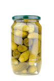 Pickled gherkins, white background Royalty Free Stock Images