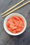 Pickled ginger Royalty Free Stock Photo