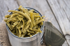 Pickled green Beans Royalty Free Stock Photos