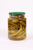 Pickled green chili peppers Royalty Free Stock Photo