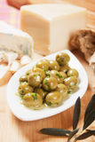 Pickled green olives Royalty Free Stock Photo