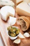 Pickled green olives Stock Image