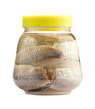 Pickled herring. On a white background Royalty Free Stock Images