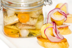 Pickled herring Royalty Free Stock Photography