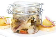 Pickled herring Stock Images