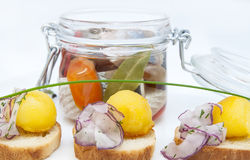 Pickled herring Stock Image