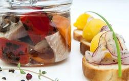 Pickled herring Stock Image