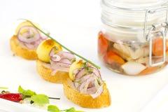 Pickled herring Stock Photos