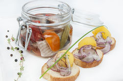 Pickled herring Royalty Free Stock Photos