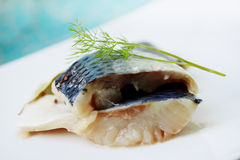 Pickled herring, spicy snack Stock Photos
