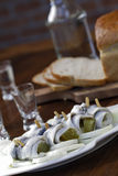 Pickled herring Royalty Free Stock Images