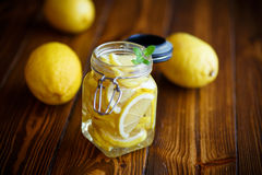 Pickled lemons in sugar syrup Stock Image