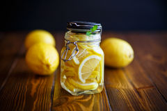Pickled lemons in sugar syrup Royalty Free Stock Photography